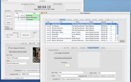 Backbone Radio Item Database