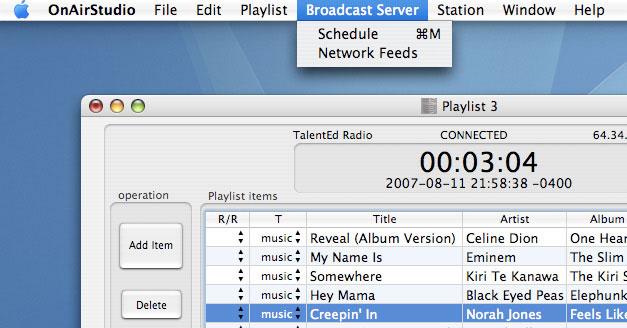 Backbone Radio Network Feed