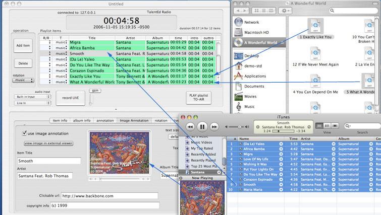 Backbone Radio Drag iTunes to Playlist